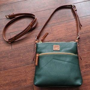 NWT Dooney & Bourke Hunter Green Crossbody Bag